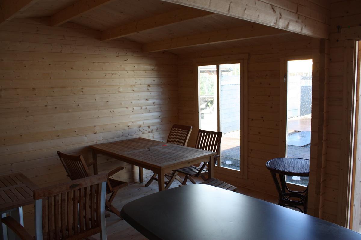 gartenhaus 640x470cm iso verglasung 44mm bohlen mit boden. Black Bedroom Furniture Sets. Home Design Ideas