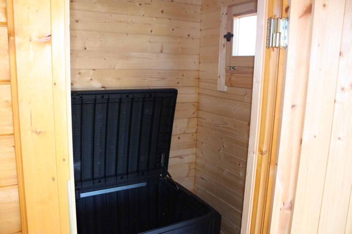 gartenhaus jedi 1 526x426 cm mit zus tzlichem wc raum 45 mm iso ebay. Black Bedroom Furniture Sets. Home Design Ideas