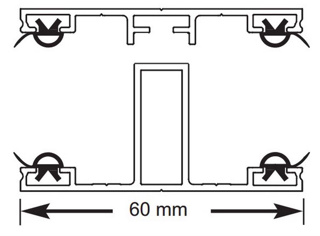 komplettsystem alu mittelprofil l 300cm 38 70. Black Bedroom Furniture Sets. Home Design Ideas