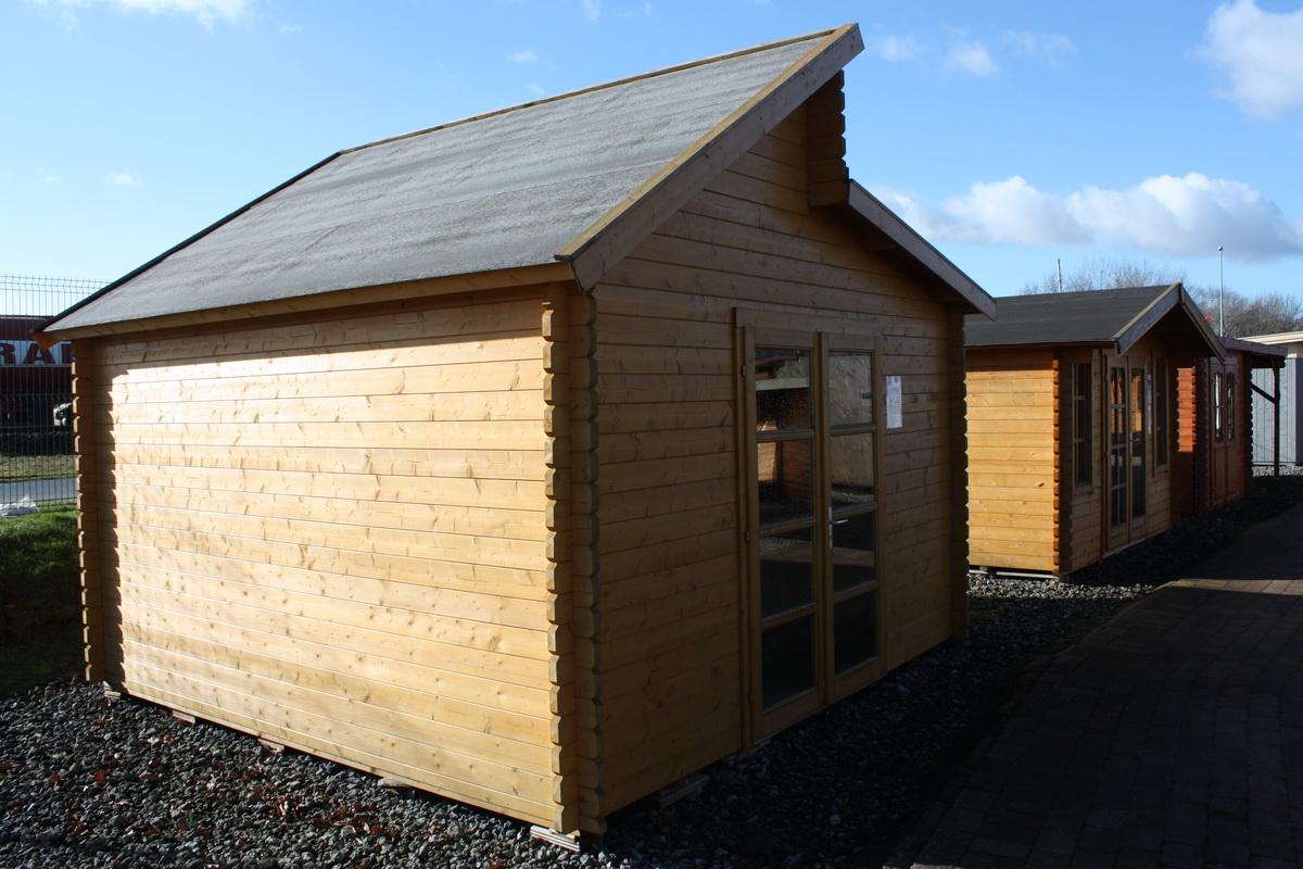 Gartenhaus iso 400x400cm mit boden 40mm bohlen doppelt r - Gartenhaus 40 qm ...