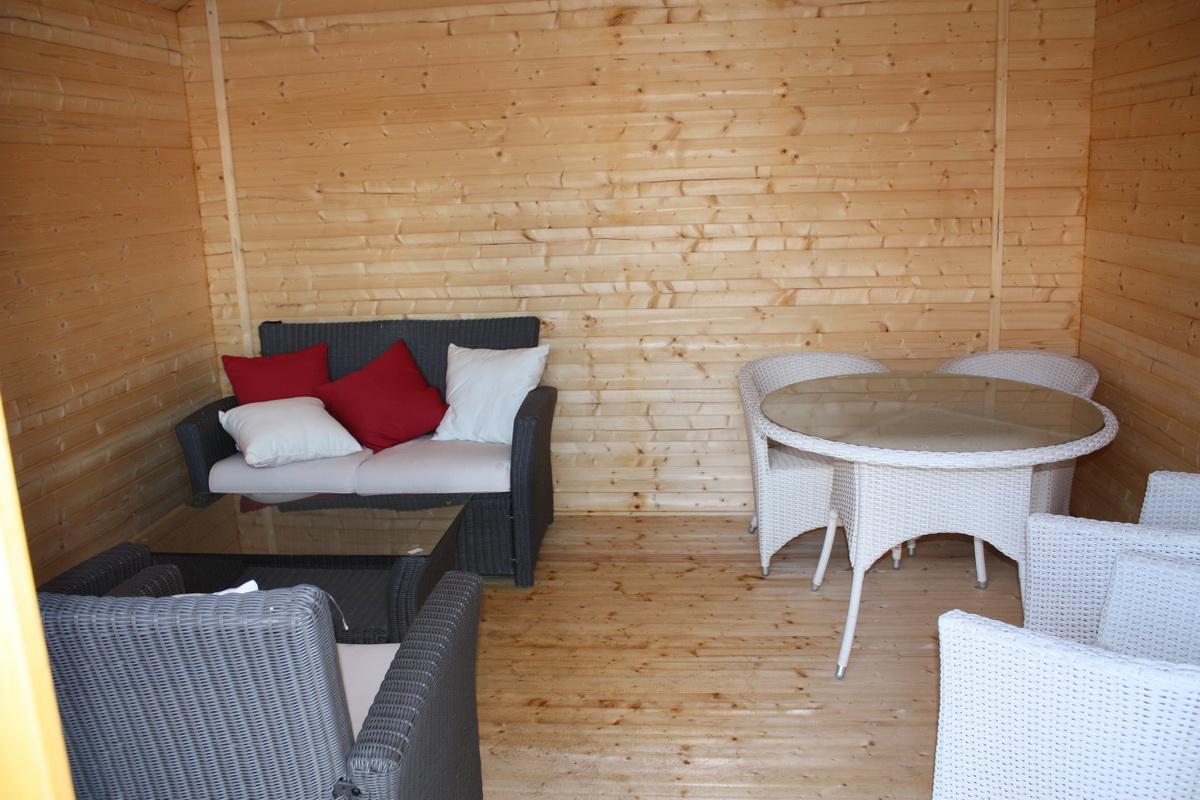 gartenhaus iso 400x400cm mit boden 40mm bohlen doppelt r. Black Bedroom Furniture Sets. Home Design Ideas