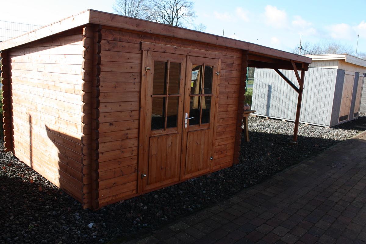 gartenhaus ohne boden 312x601cm 40mm doppelnut mit dachpappe. Black Bedroom Furniture Sets. Home Design Ideas