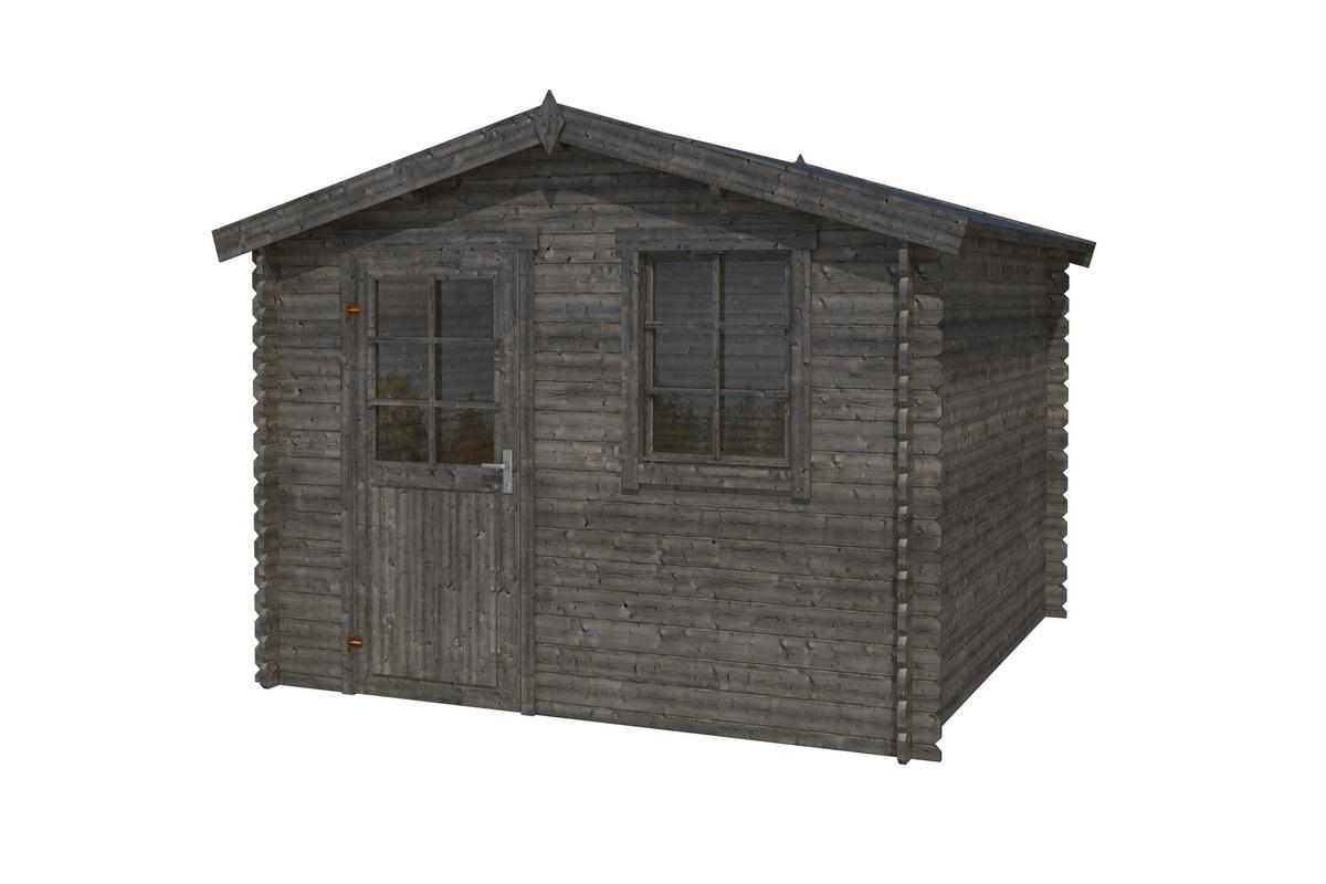 gartenhaus 427x300cm 28mm blockbohlen mit boden mit. Black Bedroom Furniture Sets. Home Design Ideas