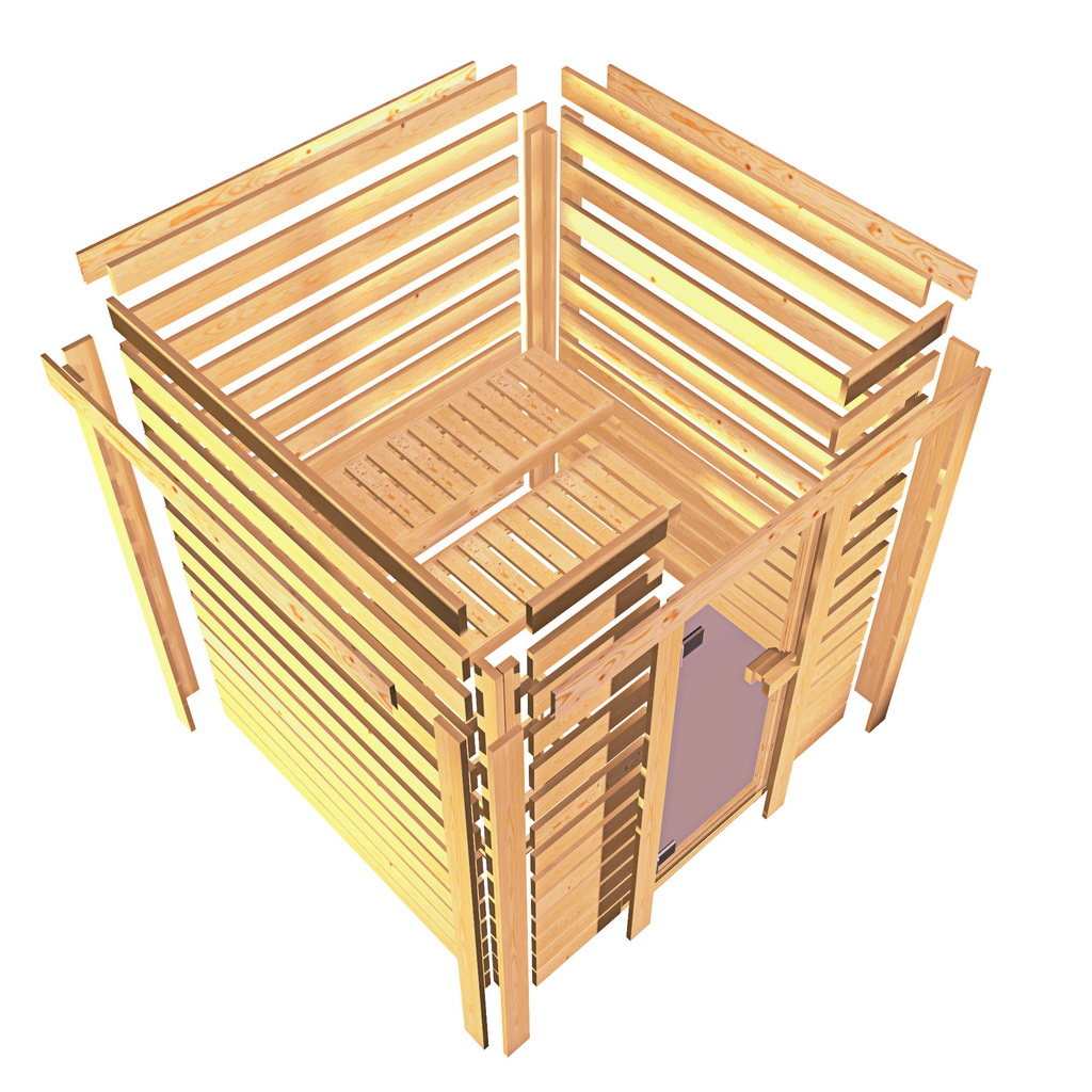 38mm massivholzsauna plugplay. Black Bedroom Furniture Sets. Home Design Ideas