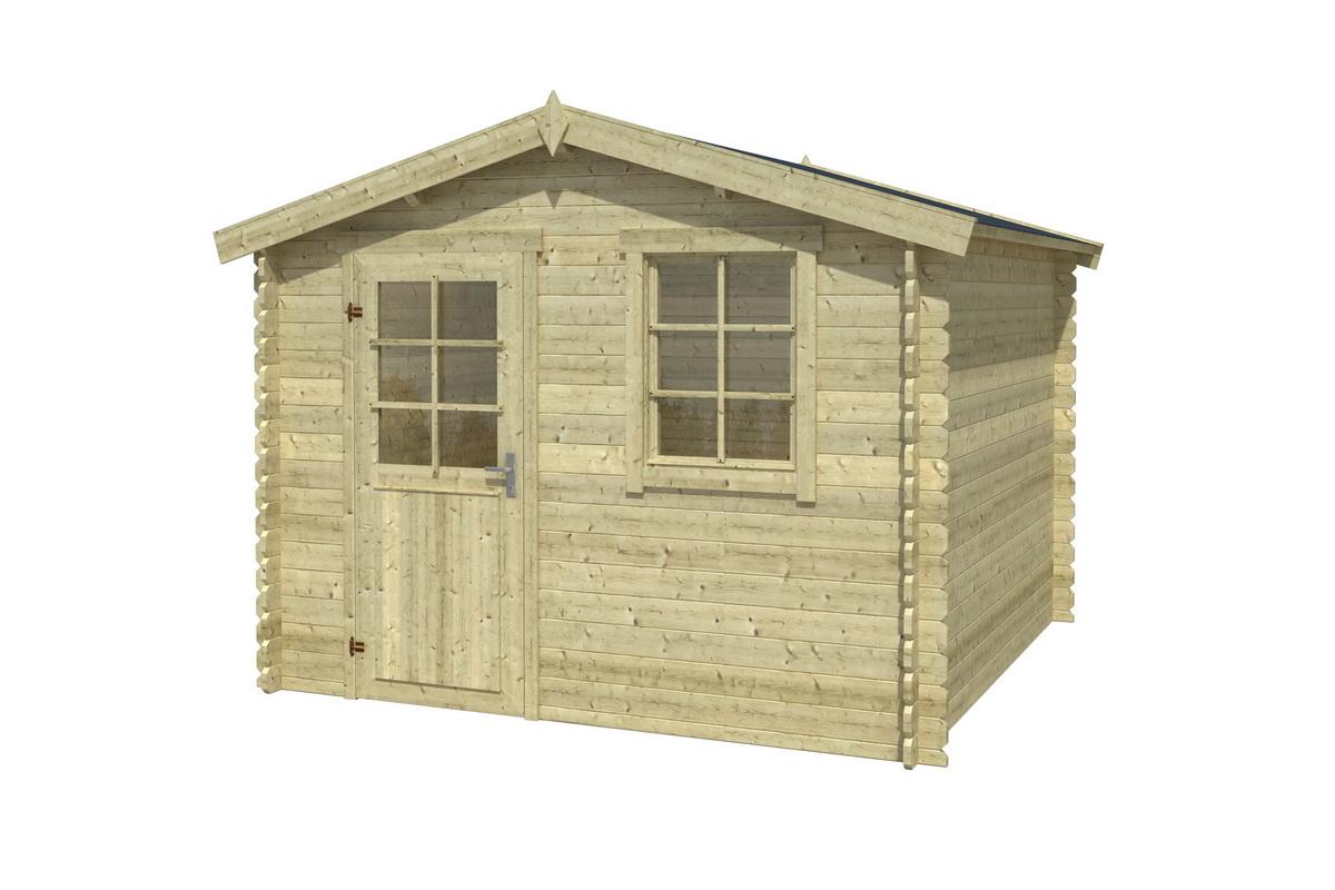 gartenhaus miami 292x292 cm 28 mm ohne boden 729 00. Black Bedroom Furniture Sets. Home Design Ideas